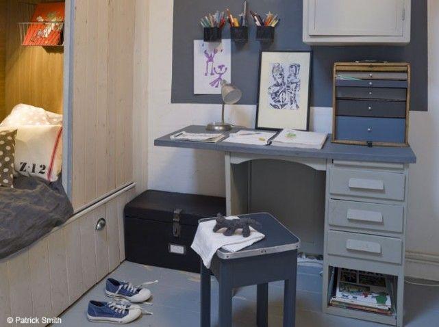 Bureau retro chambre enfant refaire la chambre de Léonard | Deco ...