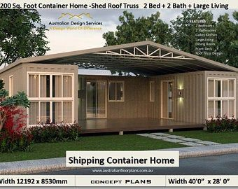 40 Shipping Container Home Plans Simple Container Etsy In 2020 Container House Container House Plans Container House Design
