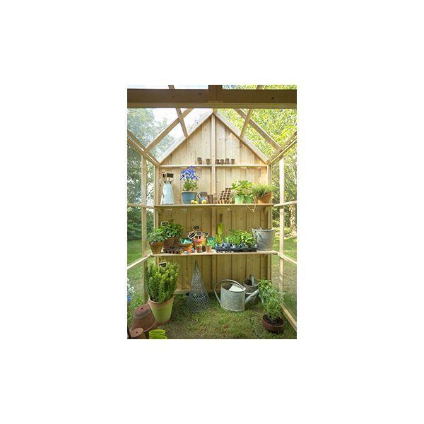 Abri de jardin serre vertigo bois brut cabane jardin for Serre de jardin en bois