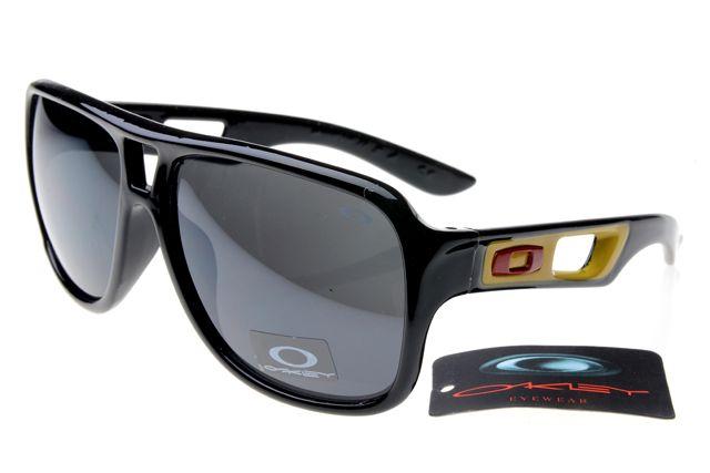 Oakley Fuel Cell Sunglasses Black Yellow Frame Gray Lens 0443