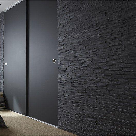 plaquette de parement pierre naturelle noir logos georgr. Black Bedroom Furniture Sets. Home Design Ideas