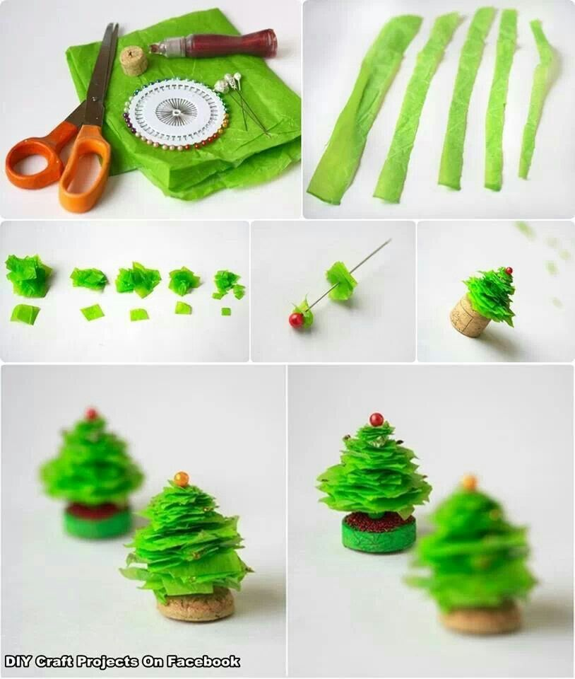 Tissue Paper Christmas Trees Crafty And Creative