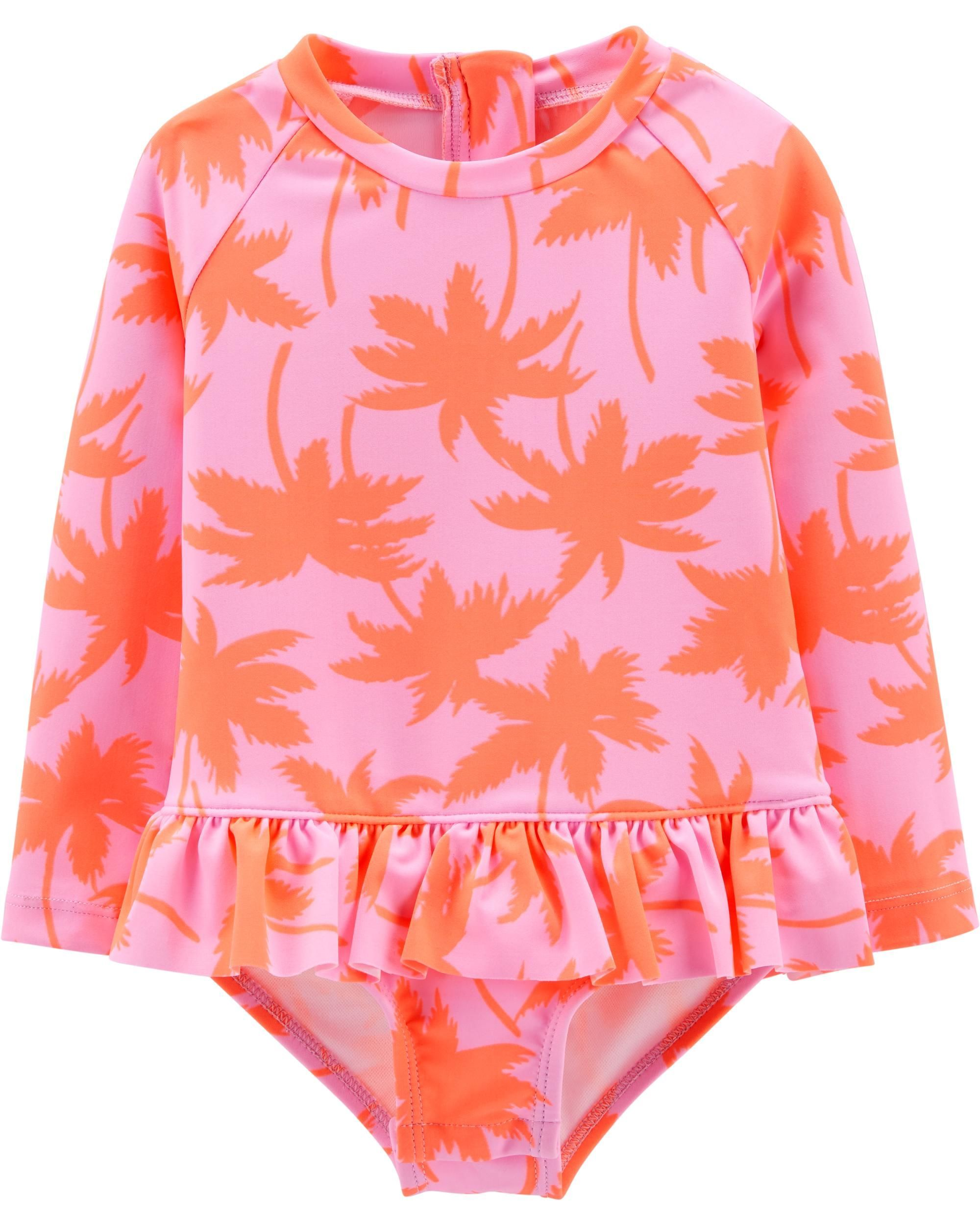 13c03cd6ee OshKosh Palm Tree Rashguard Bodysuit | Baby Abbie's style | Baby ...