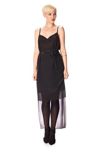 Selene Silk Tie Waist Dress