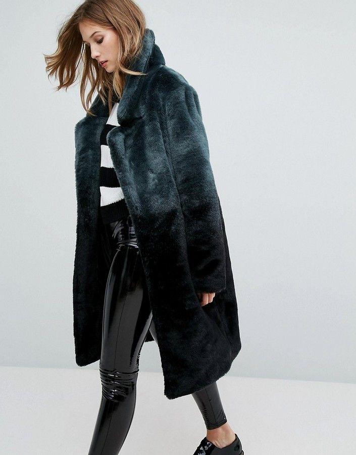 c2f3c1bdf6c2 Urbancode Longline Coat In Ombre Faux Fur | SCANDINAVIAN FASHION ...