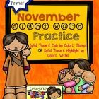 Create a book with this 15 page November Sight Word Practice!  You have two option to choose from to let your kids or students play and learn their...