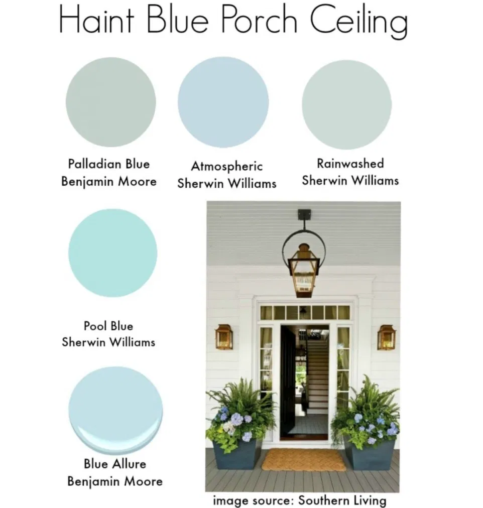 Haint Blue In 2020 With Images Haint Blue Blue Porch Ceiling