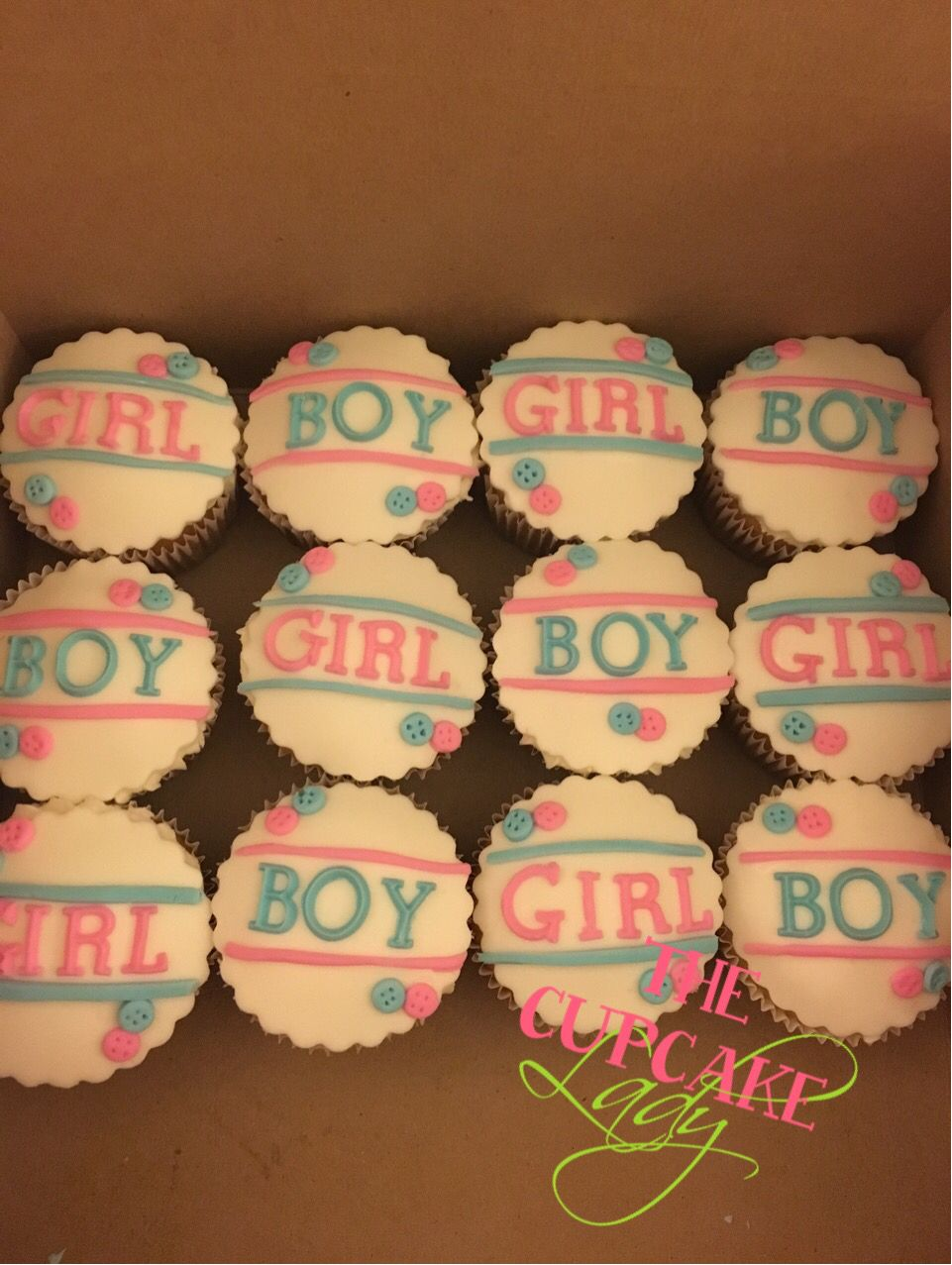 Gender Reveal Cupcakes Creations Of My Very Own Pinterest