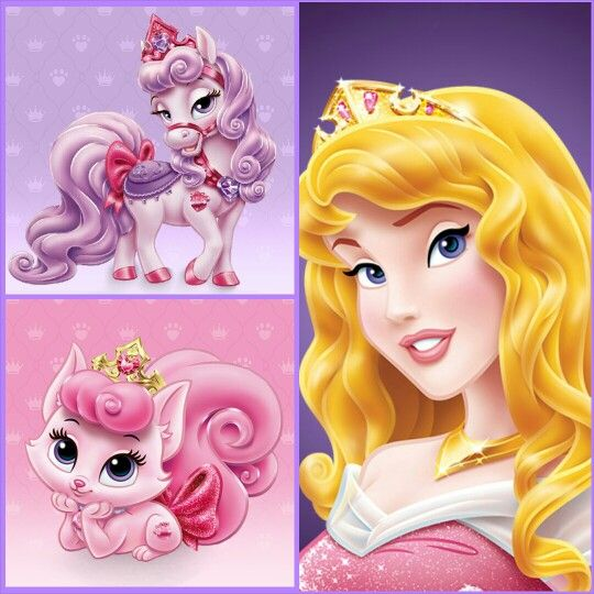 Aurora With Bloom Pony Beauty Kitten Disney Palace Pets Disney Princess Pets Disney Princess Aurora Disney Princess Palace Pets