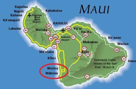Maui Hawaii Map By Mike Johnston Via