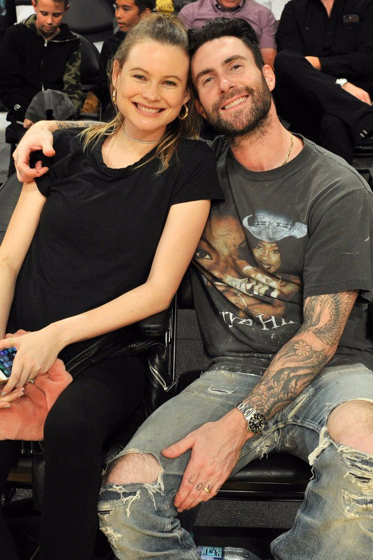 Expectant Parents Adam Levine And Behati Prinsloo Cuddle Up For A