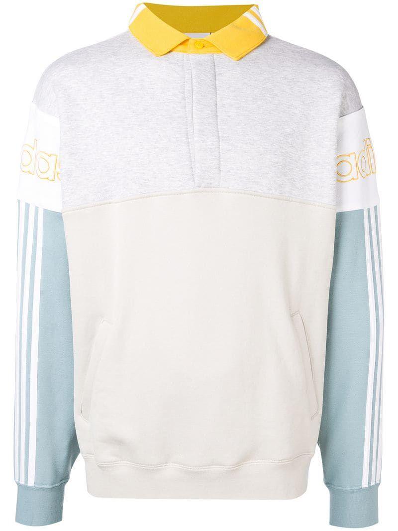 otro corazón perdido refrigerador  Adidas Rugby Sweatshirt - Farfetch | Sweatshirts, White sweatshirt, White  adidas