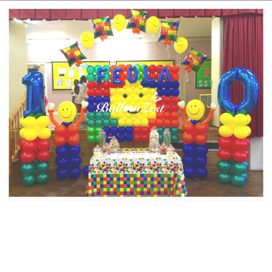 BUILDING BLOCKS Birthday Party Range Tableware,Balloons,Decorations UNIQUE