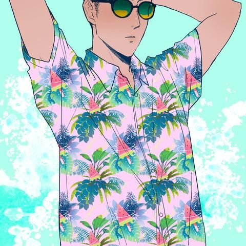8d7a9693 Watermelon Pop Hawaiian Shirt Preorder   Uchuu Summer