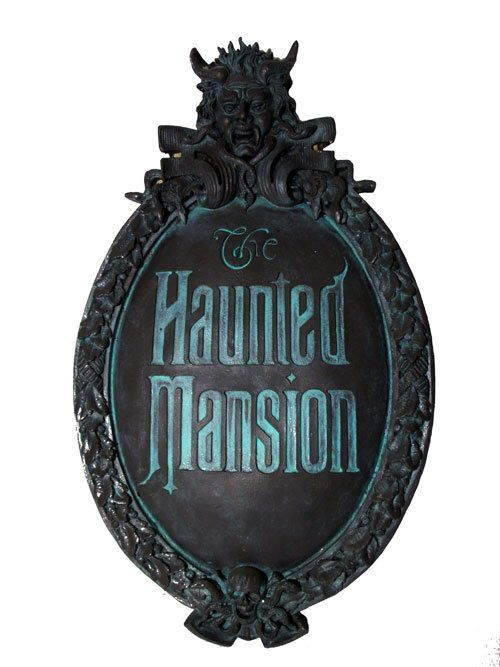 2020 Halloween Classic At The Gate Photos Haunted Mansion Mini Gate Plaque Classic version paint | Etsy in