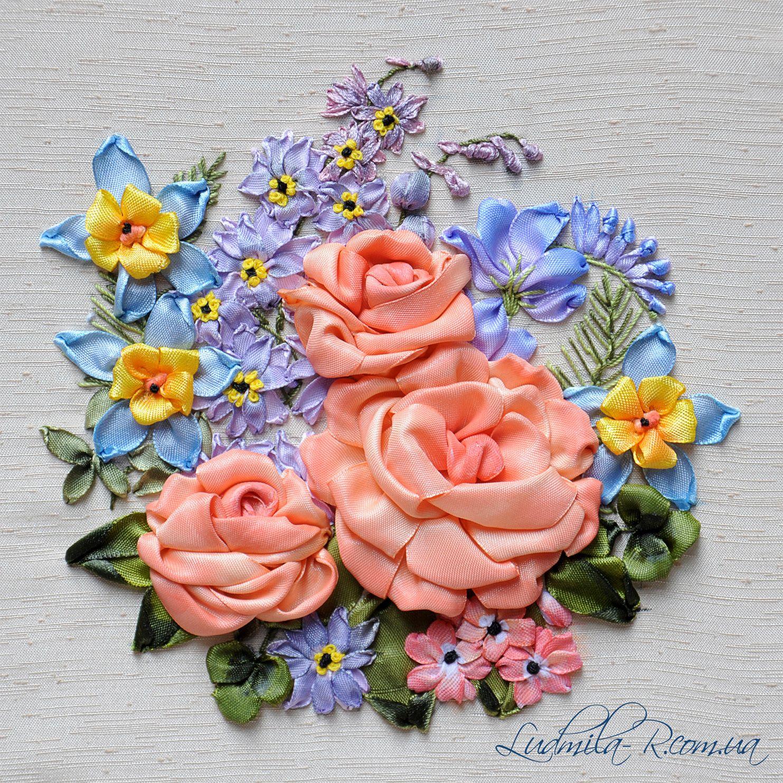 Ribbon embroidery by ludmila r ludmilar tranh