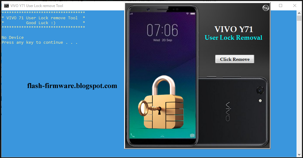 DownloadVIVO Y71 User Lock Removal Tool Feature: Vivo 71 Lock Remove