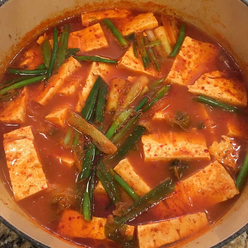 Kimchi Stew (김치 찌개, Kimchi Jjigae) | Ahjummarecipes - Easy Korean Recipes