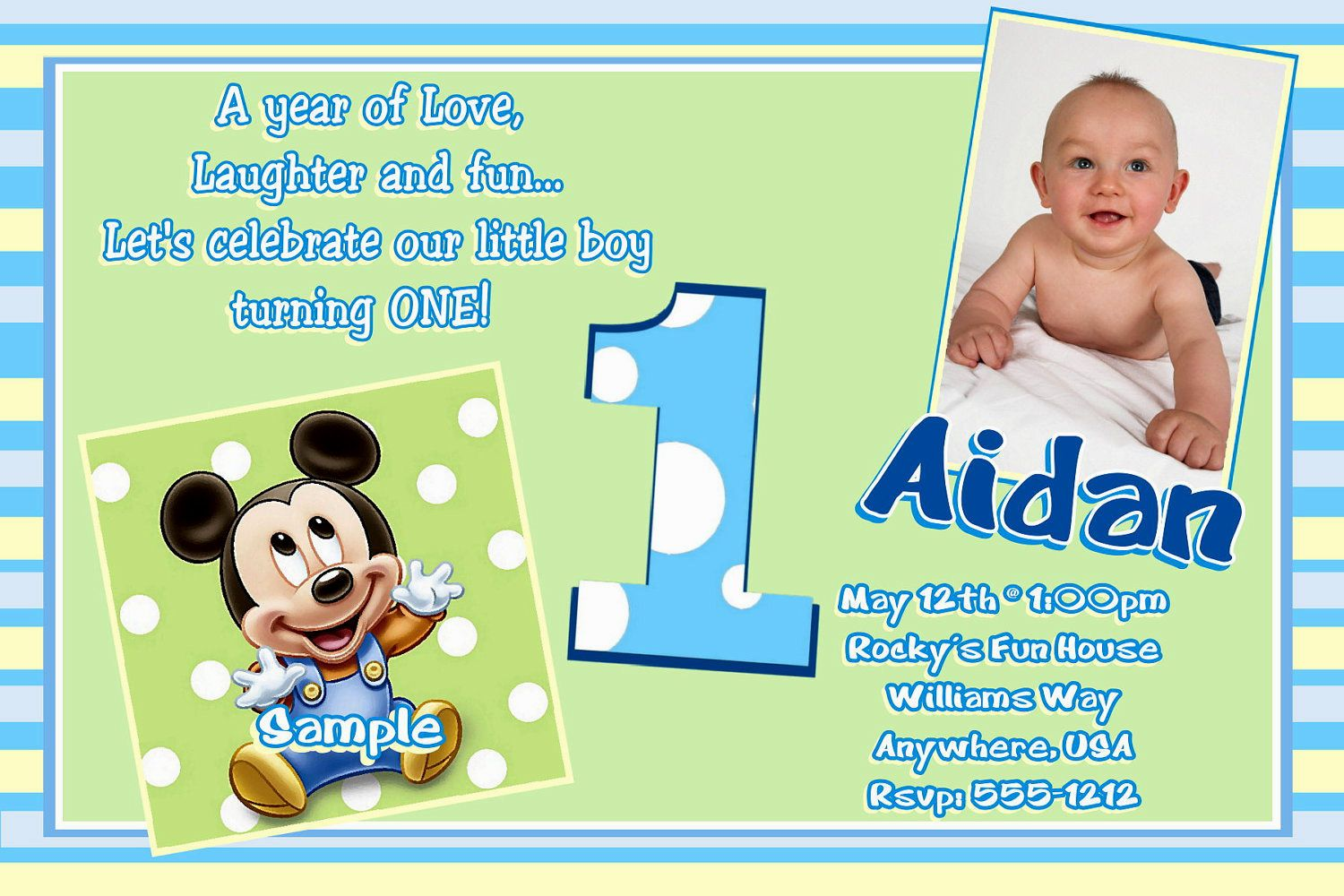 Create Own 1st Birthday Invitations Boy Ideas Winsome Layout Of