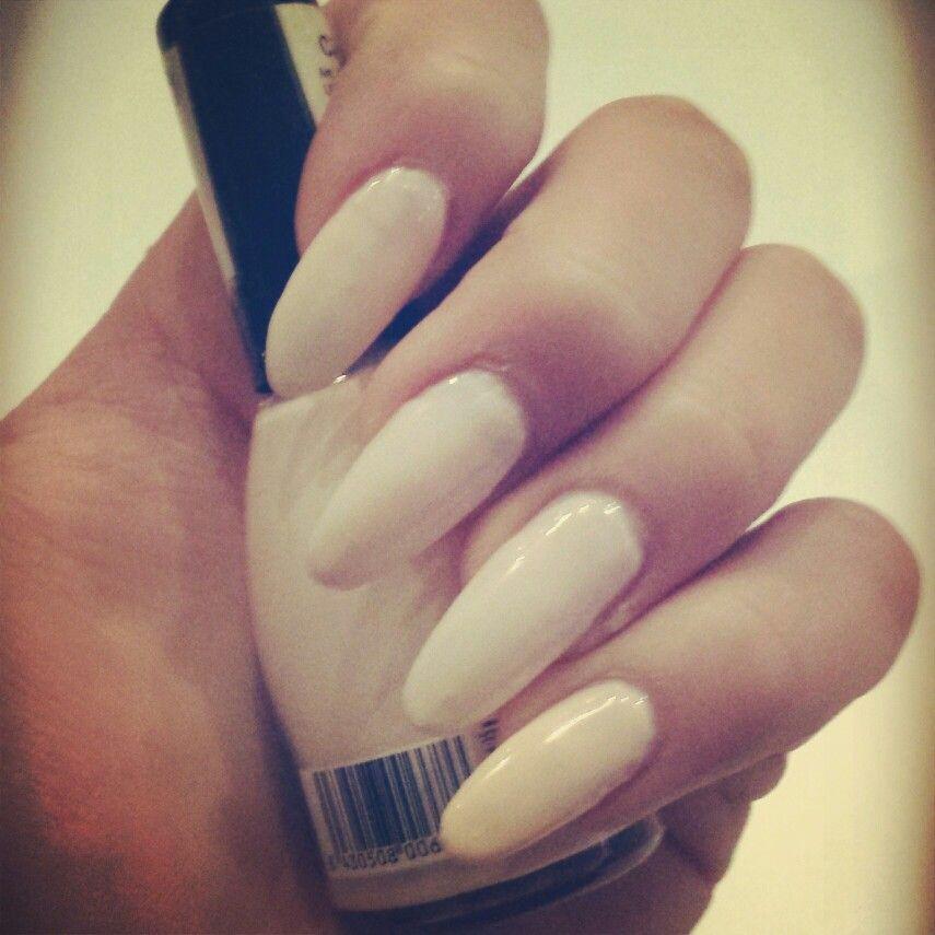 Beige natural stiletto nails | Nails | Pinterest