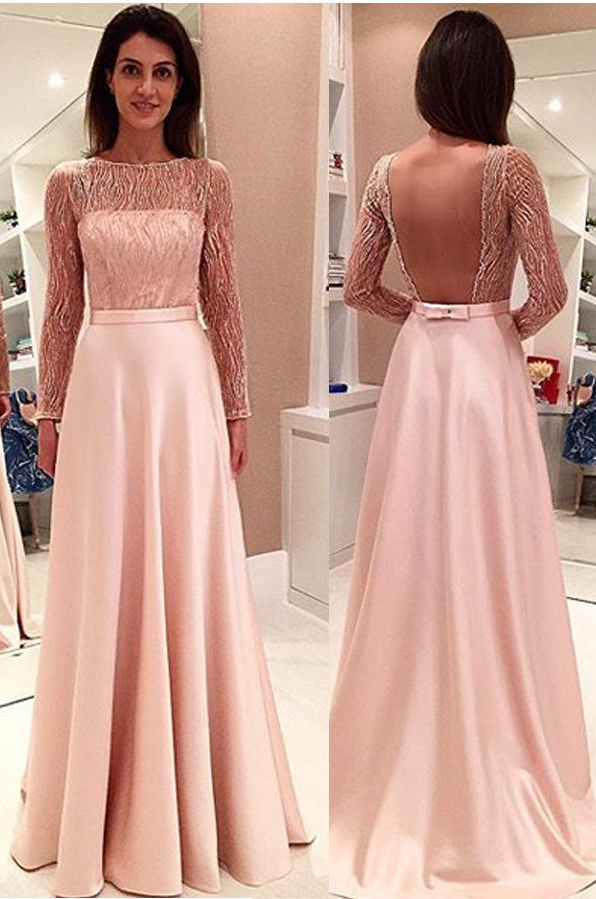 Glamorous Long Sleeveless Prom Dress,Open Back Prom Dresses ...