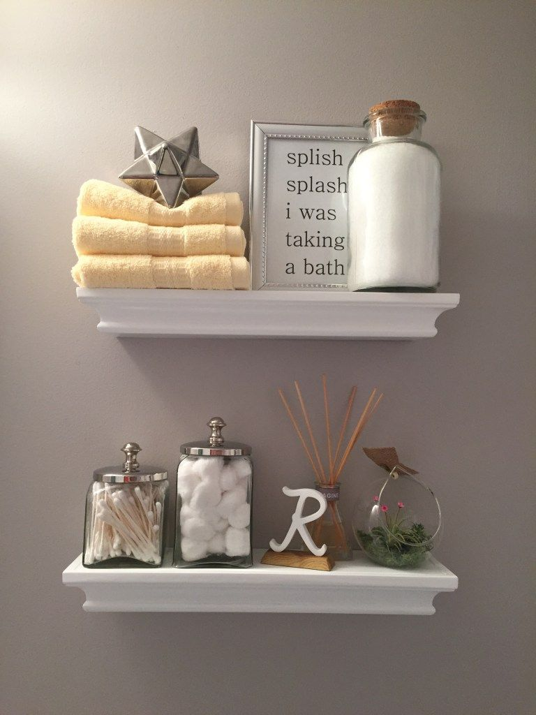 Bathroom Shelf Decor | Bathroom Decor | Pinterest | Bathroom shelf ...
