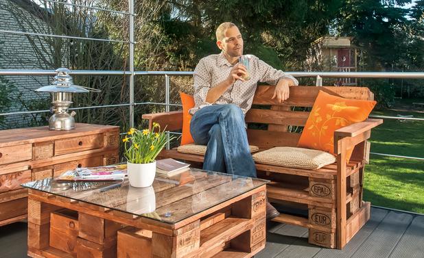 Palettenmöbel | Gartenmöbel aus europaletten, Europalette und ...