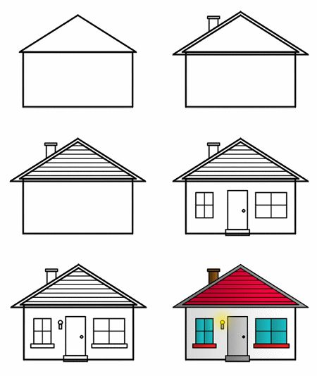 How to draw a simple house, houseMAILER by Rich Davis How to Draw