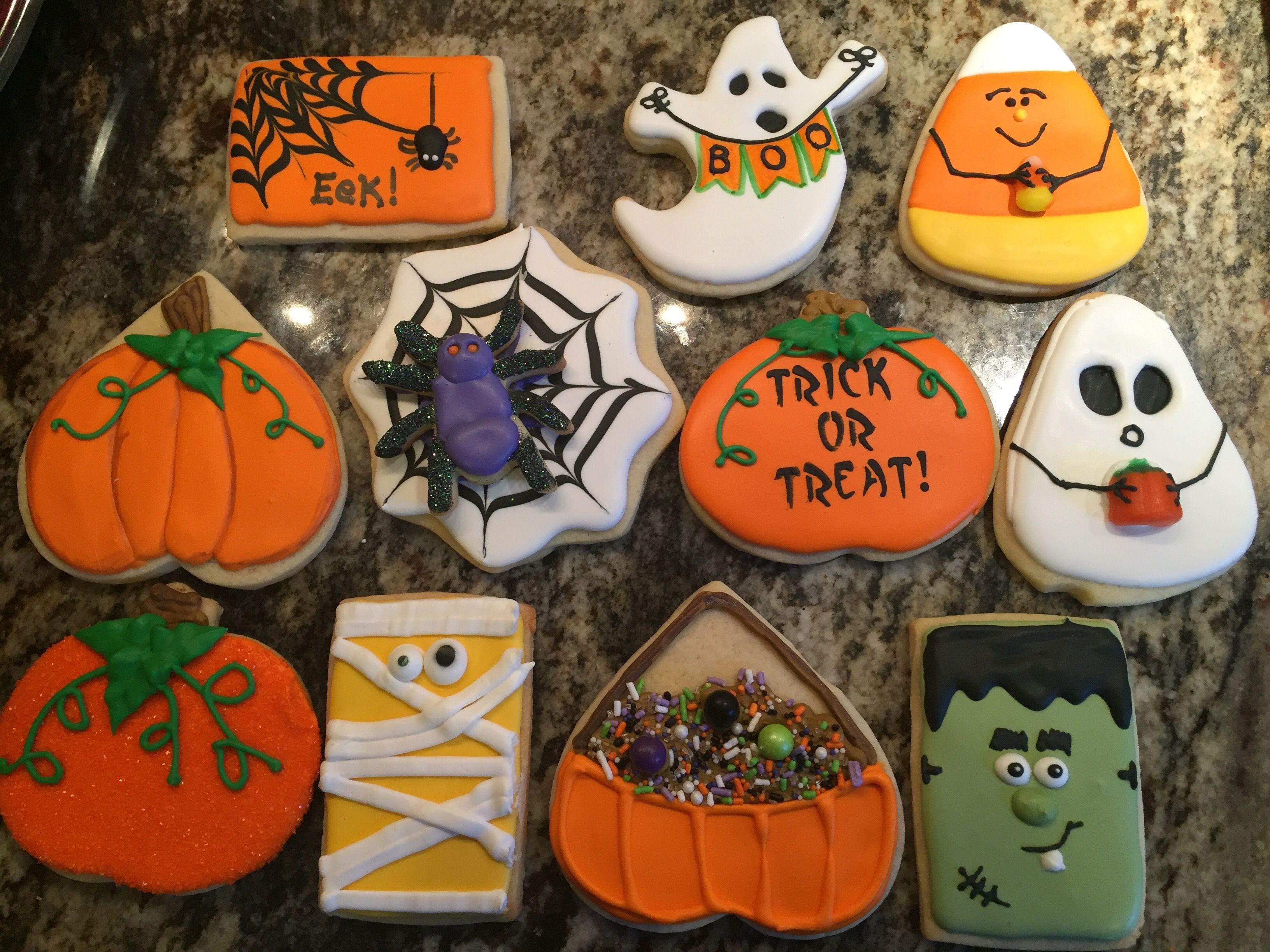 Halloween cookies with Devin 10/1/17 Halloween cookies Pinterest