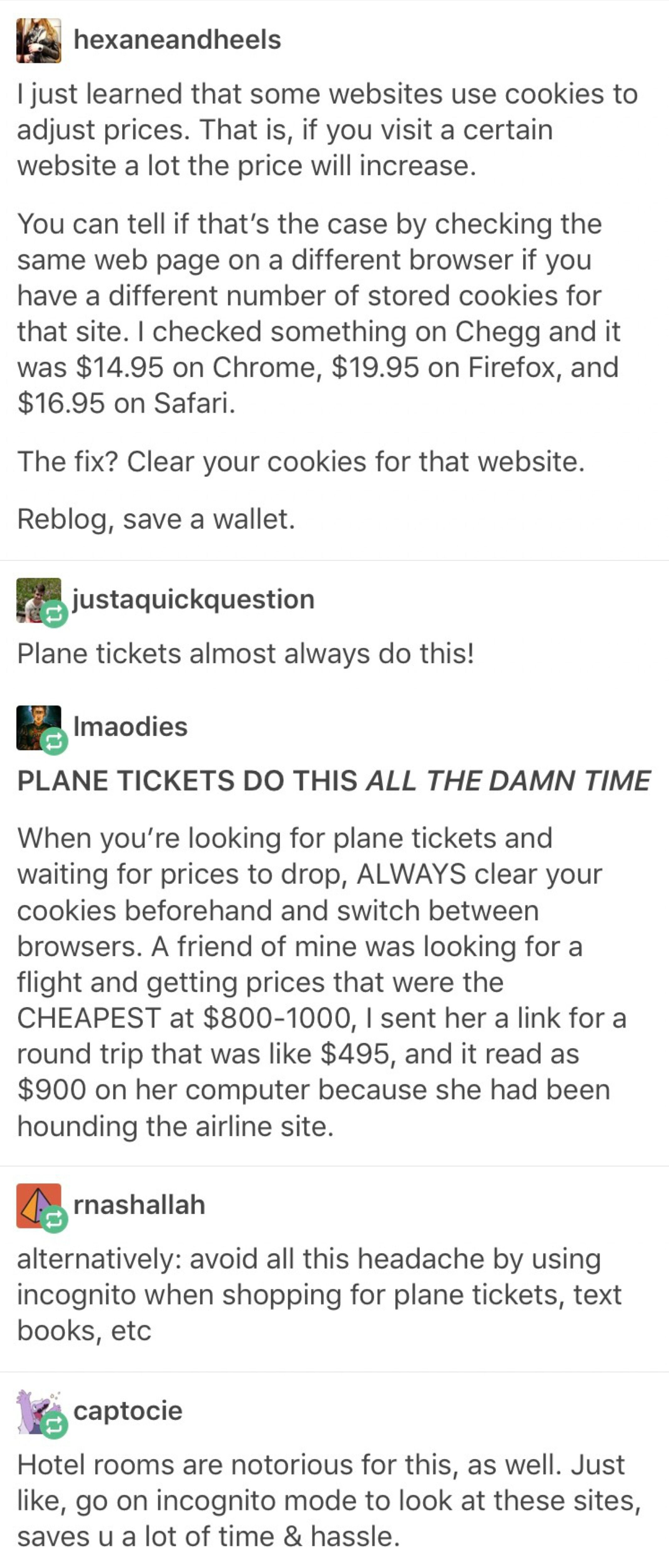 Save Some Incognito Mode For Plane Tickets Life Hacks Life Help Simple Life Hacks