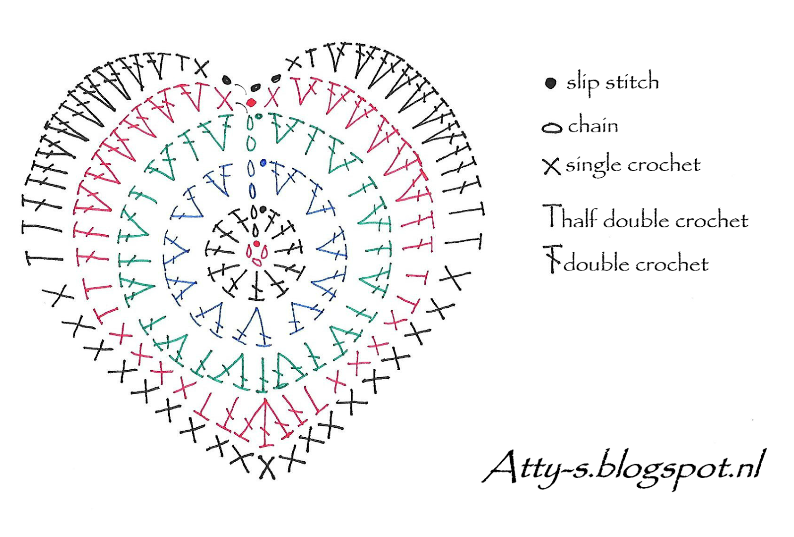 Corazon15 patron | μινιατουρες βελονακι διαφορα | Pinterest ...