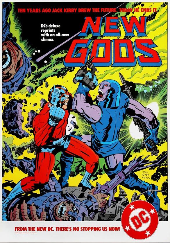 New Gods: Promo Poster Color, 1984 | Jack Kirby Posters, Ad