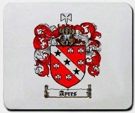 Ayres Family Shield / Coat of Arms Mouse Pad $11.99