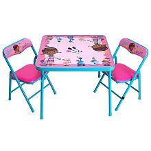 Doc McStuffins Erasable Activity Table and Chair Set | Doc ...