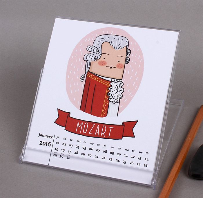 50 Absolutely Beautiful 2016 Calendar Designs — Hongkiat.com