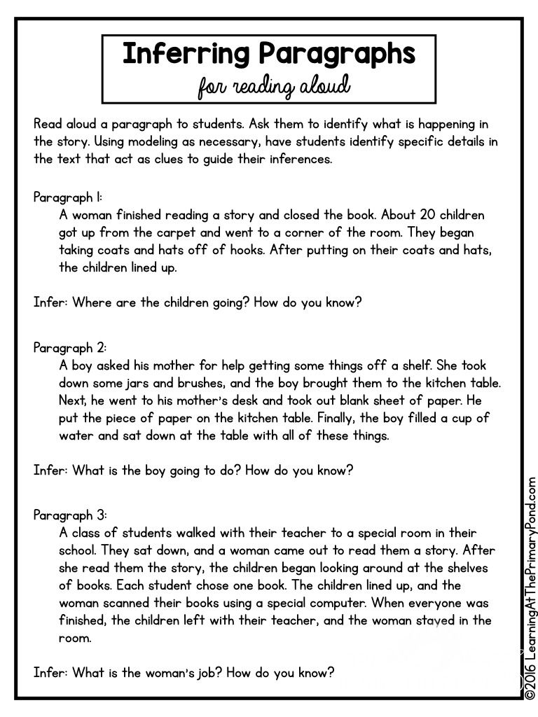 5 Activities Lessons And Ideas For Teaching Inferring In The Primary Grades Learning At The Primary Pond Inference Inferencing Lessons Primary Grades
