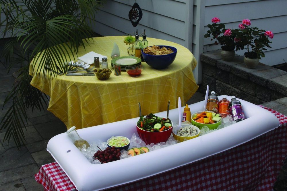 inflatable buffet salad bar ice party food cooler cookout picnic rh in pinterest com