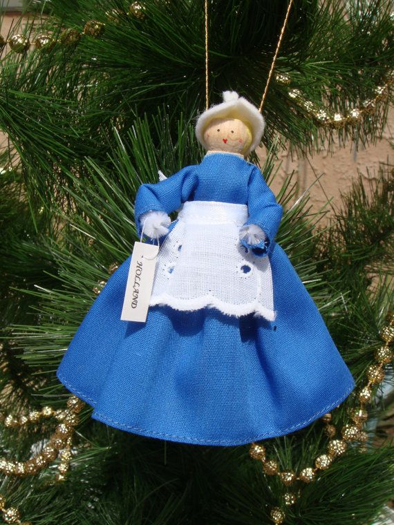 Robe pour poupée de pince à linge Holland par cherylsdollsnstuff