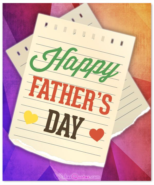 card with happy fathers day message