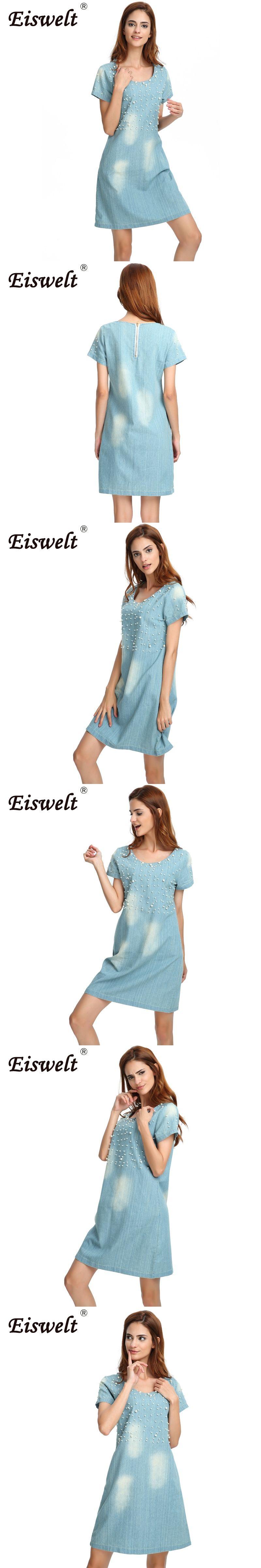 EISWELT Plus Size 5XL Dress Women Jeans Sundress Women\'s Casual ...