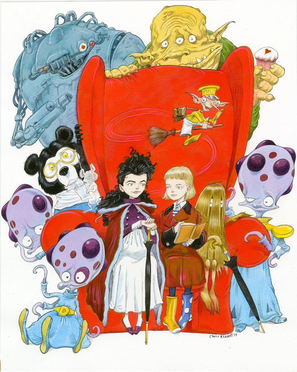 Colour childrens literature - 2014 Bath Kids Lit Fest Cover Art By Chris Riddell