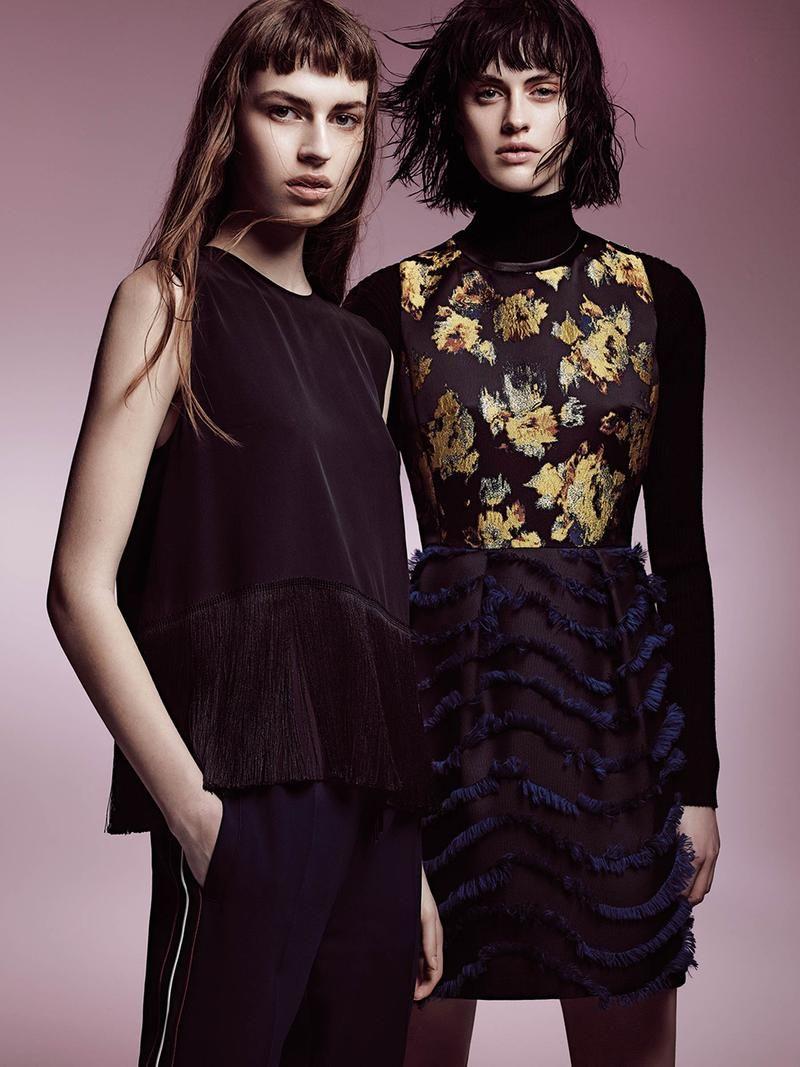 Sarah Brannon and Simona Kirchnerova Pose on Sportmax Fall Winter 2015 Lookbook