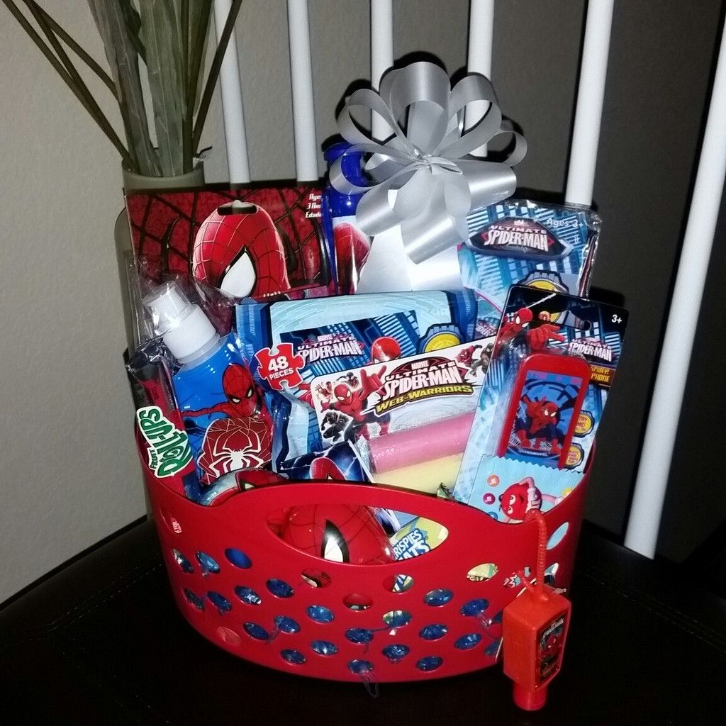 Spiderman easter basket gift pre filled easter baskets filled spiderman pre filled easter basket gift marvel marvelcomics spiderman boy boys negle Image collections