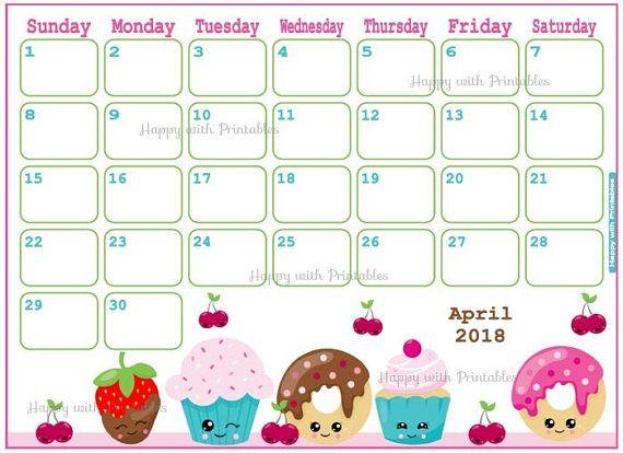 Cute Calendar Planner 2018 : Calendar august monkey planner printable cute