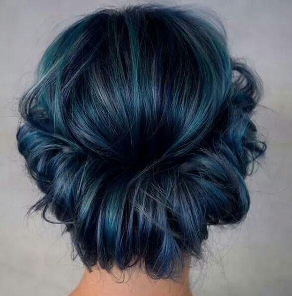 1000 Ideas About Dark Teal Hair On Pinterest