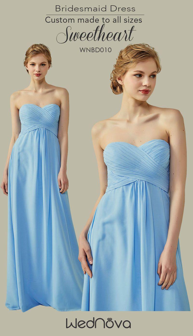 chiffon sweetheart bridesmaid dresses aline crystal blue