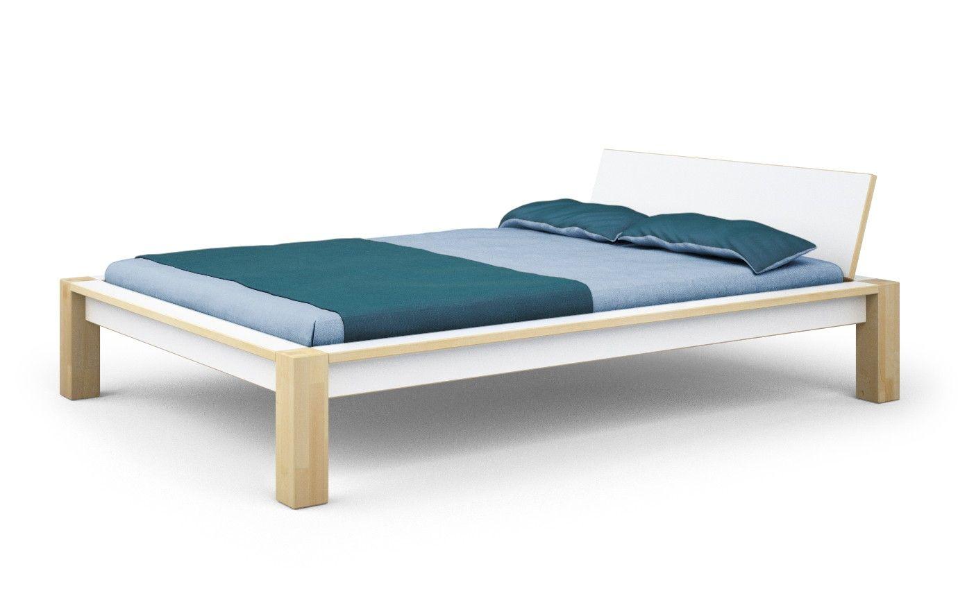 Bett Ahorn Weiss Alfred Nein 100 X 200 Cm Bett Bett 140x200 Bett Aus Paletten