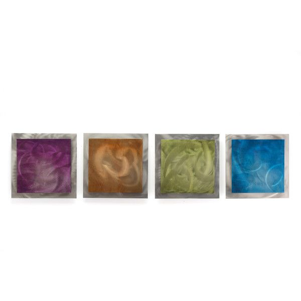 Contemporary accent panels seasonal essence rainbow color metal wall 172