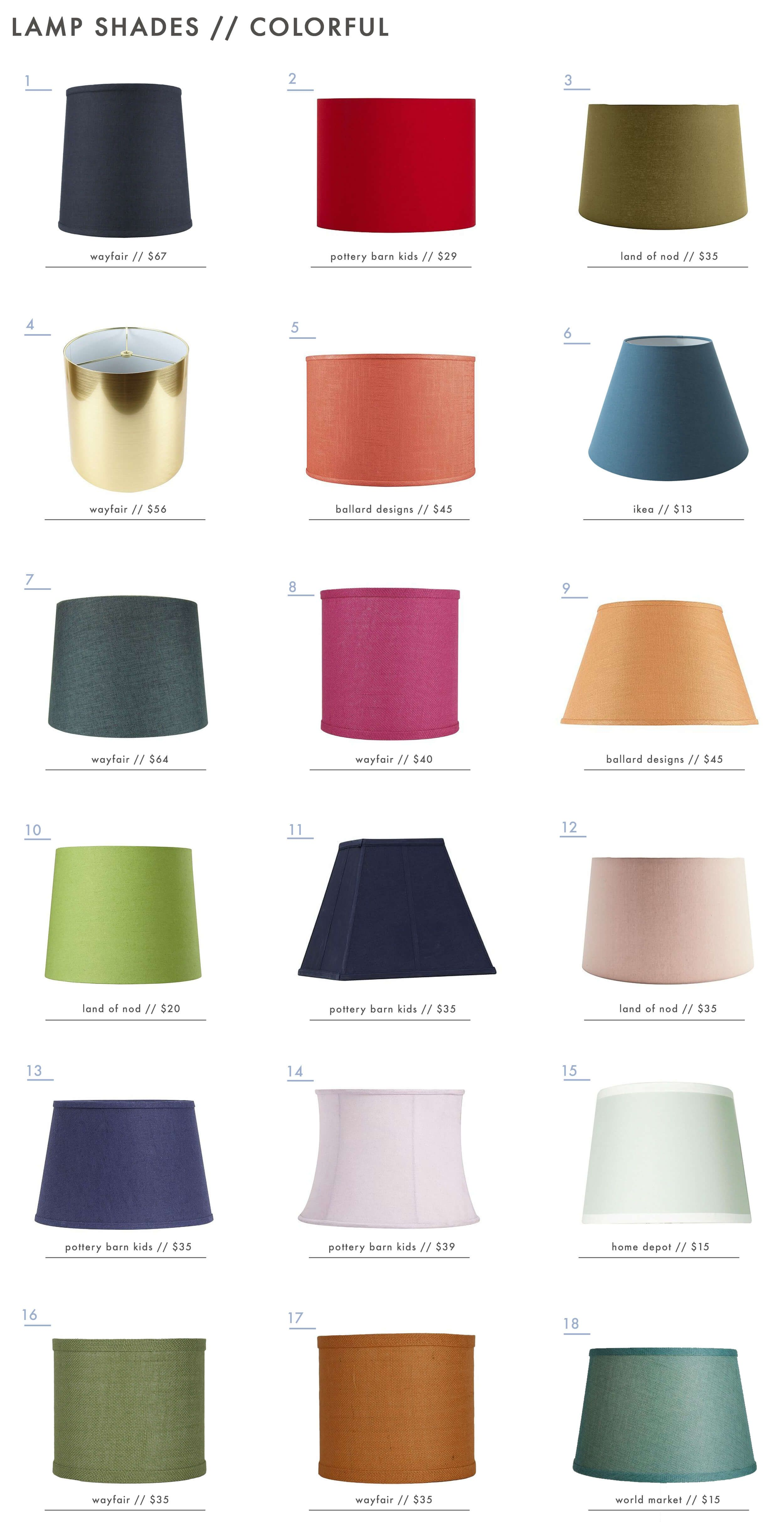 The Surprising Value Of Colored Textured Or Patterned Lampshades Avenida Rotella Inspiration Colorful Lamp Shades Modern Lamp Shades Small Lamp Shades