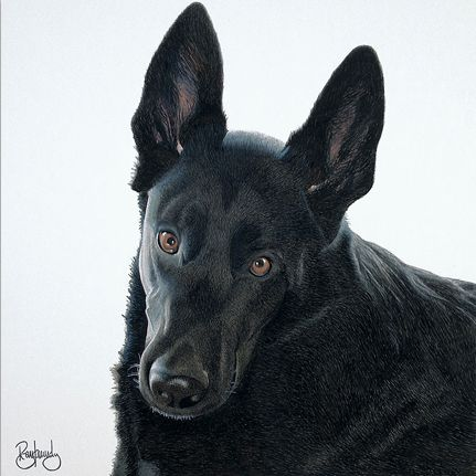 """Watercolor painting commission by artist Ryan Kennedy, titled """"Shiloh""""."""